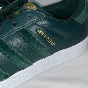 adidas Shoes - Adidas Forest Green Velvet Superstar Sneakers NWT
